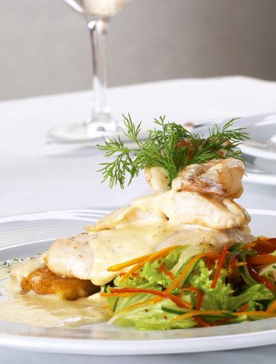 """Kulinarisches Gericht im Bistro """"Dande"""" im Tagungszentrum Blaubeuren"""