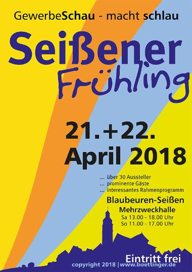 GewerbeSchau Seißener Frühling Plakat