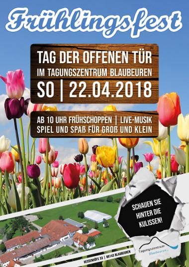 Tag der offenen Tür Frühlingsfest Plakat